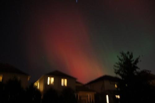 Aurora boreal em Fort McMurray