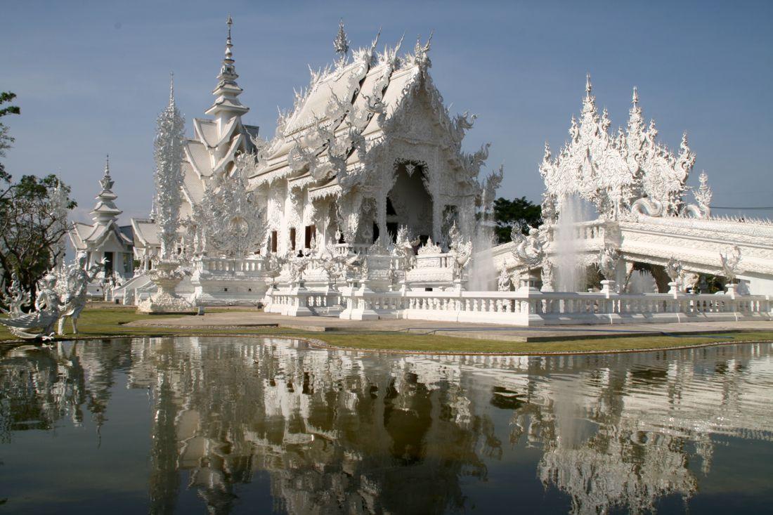 Tailândia com tribo das mulheres-girafa - The White Temple, Chiang Rai