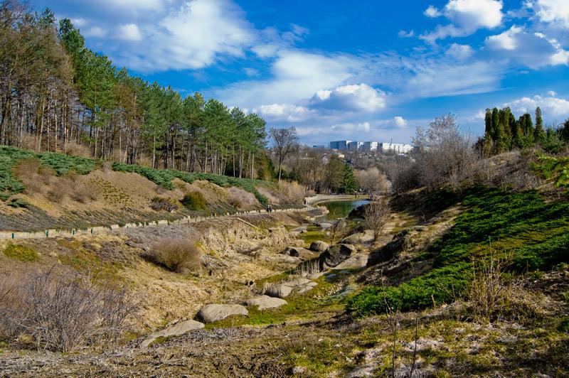 Sofiyivsky um Parque feito com amor na Ukrania.